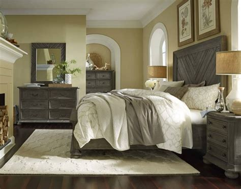 cheswick rustic grey solid wood master bedroom set bedrooms  classy home  deal