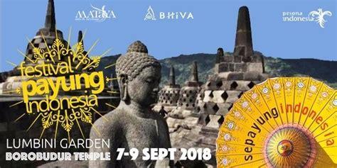 indahnya festival payung indonesia   candi borobudur