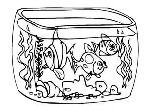 how to draw fish tank coloring page netart