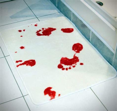 bloody shower curtain and bath mat spinning hat blood bath mat giftfolder