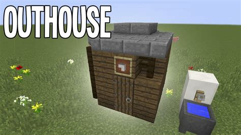 poop houses minecraft tutorial outhouse poop palace youtube