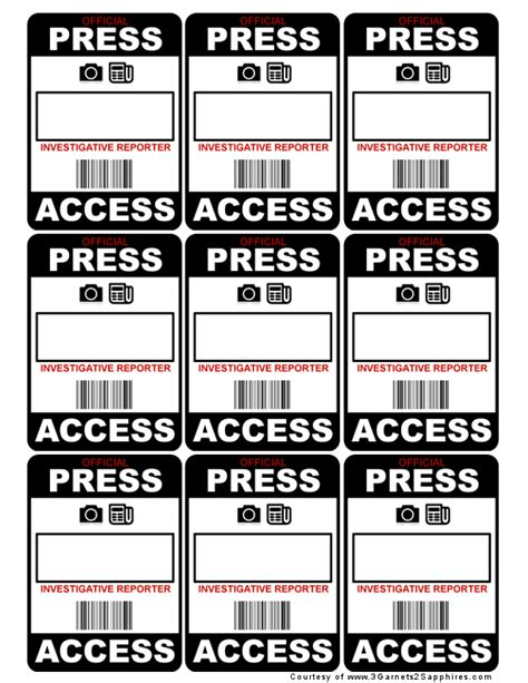 free press pass template blank press pass template www imgkid the image kid