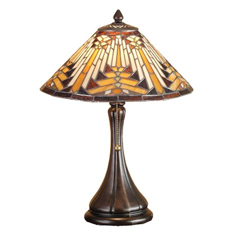 accent table lighting meyda tiffany 66225 navajo cone accent table l atg stores