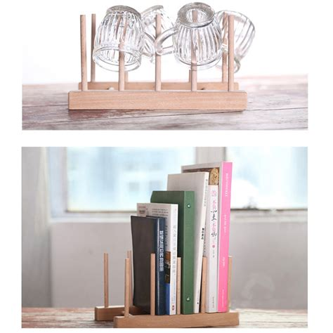 wooden racks for books new multifunction wooden plate rack wood stand books cd