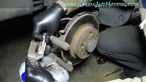 audi a3 rear brake pads how to replace rear brake pads and discs vw golf mk4 audi