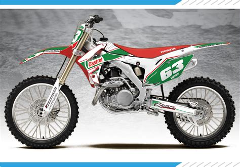 cr fir castrolled series honda cr crf graphics kit custom