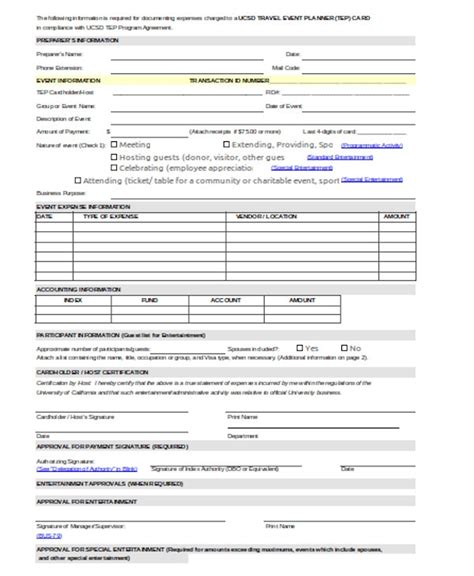 sample event planner forms   word excel