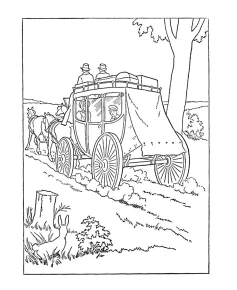 early coloring pages usa printables early american transportation coloring