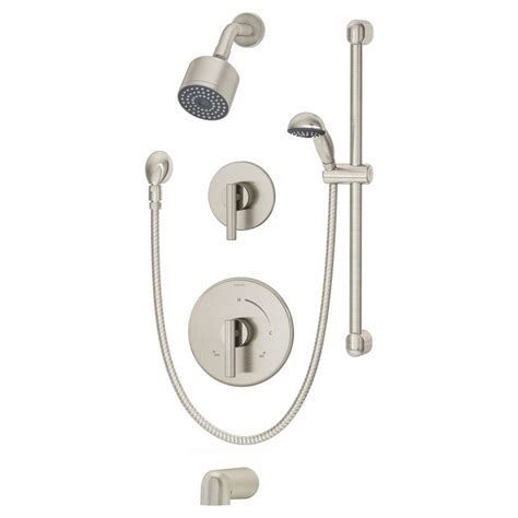 Symmons Tub And Shower Valve symmons dia single handle 1 spray tub and shower faucet in