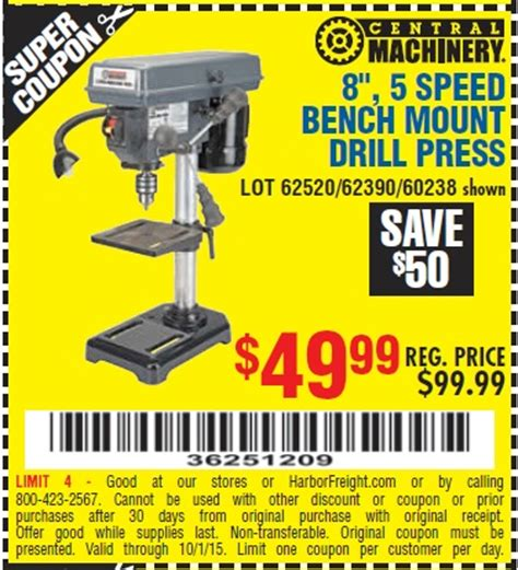 harbor freight bench press harbor freight tools coupon database free coupons 25