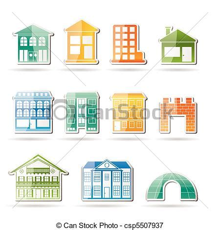 Fancy House Floor Plans vectors illustration of different kinds of houses and