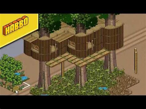 habbo house designs habbo tutorial tree house youtube