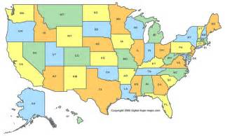 Us State Abbreviations Map by States Capitals And Abbreviations