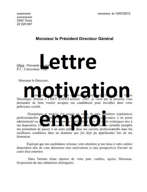 lettre de motivation emploi avec cv word doc outils livres exercices et vid 233 os