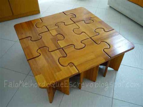 jigsaw puzzle coffee table diy puzzle coffee side tables do it yourself ideas