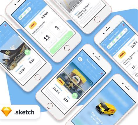 smart home app design kit for sketch freebiesui free delivery app design ui kit for sketch designers
