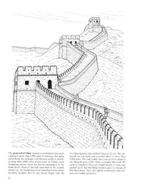 great wall of china coloring pages