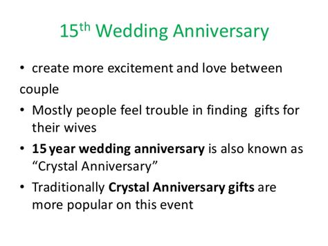 Wedding Anniversary Ideas 15 Years by 15th Wedding Anniversary Ideas