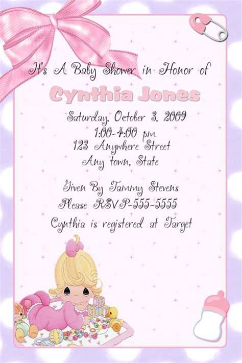 Precious Moments Baby Shower Invitations by Precious Moments Invitation Baby Shower Ideas