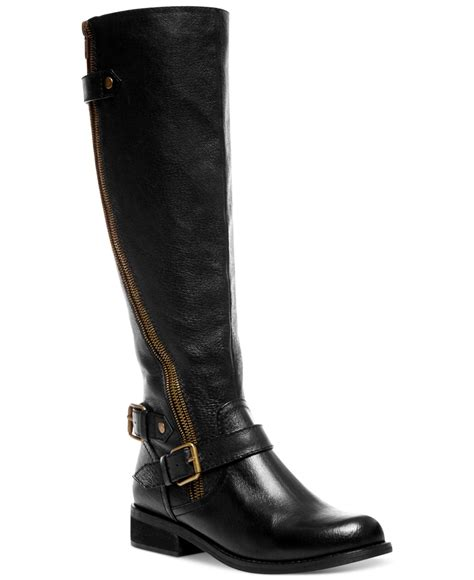 macys steve madden boots steve madden s synicle wide calf boots in black