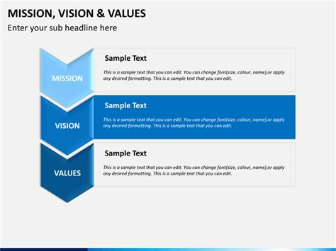 values statement template mission vision and values powerpoint template sketchbubble
