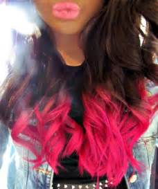 7 Tips For Dying Your Hair Brown by Brown Pink Dip Dye Hair Dyed Pink