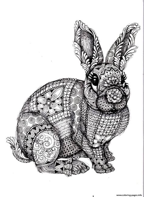 difficult pattern in c adult difficult rabbit coloring pages printable