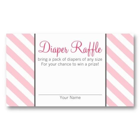 business card size ticket template baby shower raffle tickets 774
