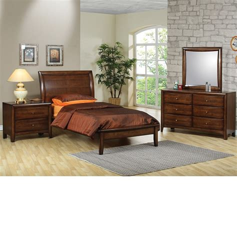 walnut bedroom set dreamfurniture collection bedroom set walnut finish