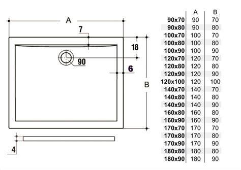 misure standard piatto doccia doccia rettangolare misure piatti doccia dolomite