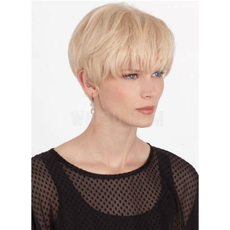 Short Straight Wispy Bang Pixie Haircut Remy Human Hair