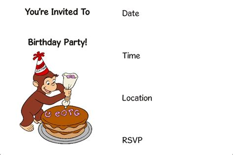 printable birthday invitations cvs birthday party archives