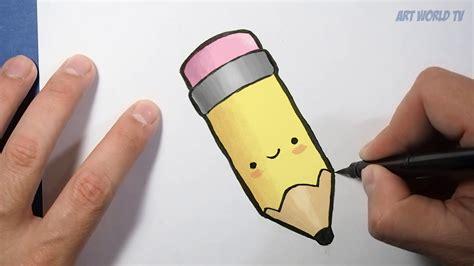 imagenes de dibujos kawaii a lapiz how to draw a kawaii pen como dibujar un lapiz dibujos