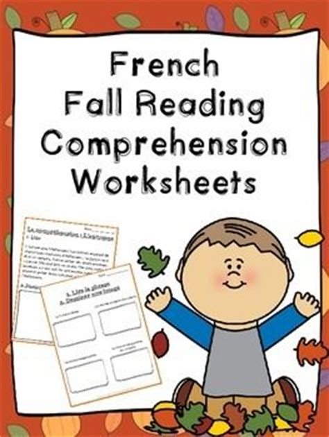 reading comprehension test in french french fall reading comprehension worksheets la