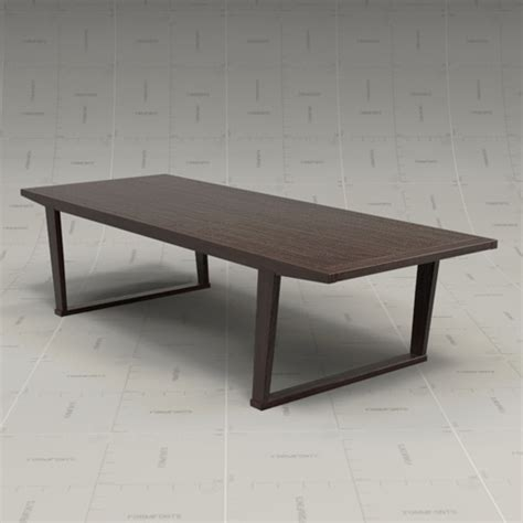 Maxalto Dining Table Maxalto Lucullo Dining Table 3d Model Formfonts 3d Models Textures