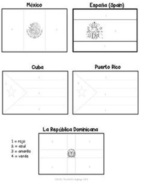 coloring page spanish speaking countries 1000 images about color by number on pinterest spanish