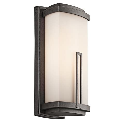 Soft Outdoor Lighting Kichler Lighting 49112avi Leeds Soft Contemporary Casual Lifestyle Outdoor Wall Sconce Kch 49112 Avi