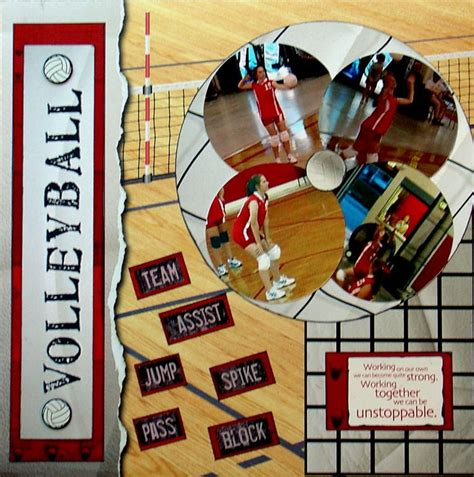 scrapbook layout ideas for volleyball marla volleyball 05 scrapbook com scrapbooking ideas