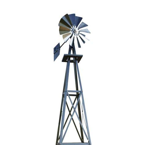 windmill backyard 99 in small galvanized backyard windmill byw0038 the home depot