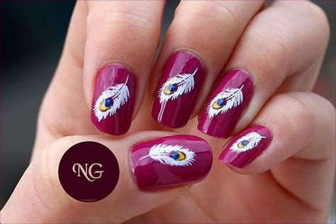 Nail 3d Peacock White white peacock fearher nail gallery