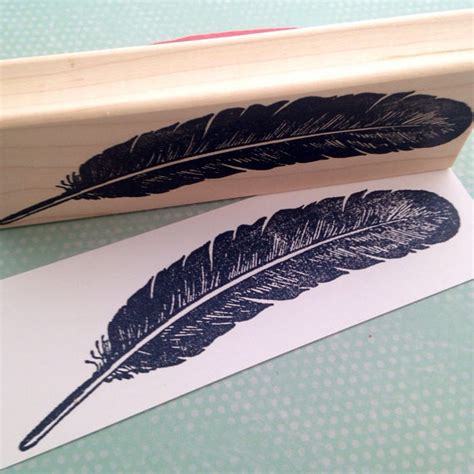 Large Feather Rubber St 5837 From 100proofpress On Etsy