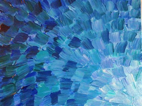 blue abstract painting original acrylic painting abstract sea scales mixed blue green