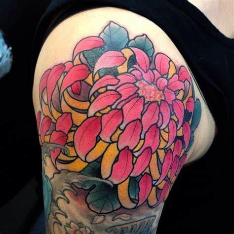 tattoo new town amazing chrysanthemum tattoo by cory ohrman at ldf tattoo