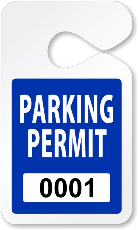 Do It Yourself Parking Permits Made On Site Parking Pass Template