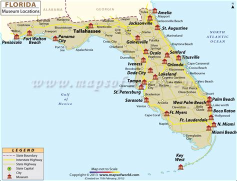 maps florida usa list of museums in florida florida museum map