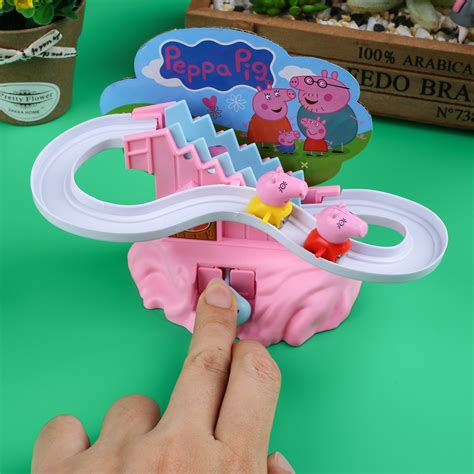 Set Staris Kid peppa pig amusement electric climb stairs track set playset for kid gift ebay