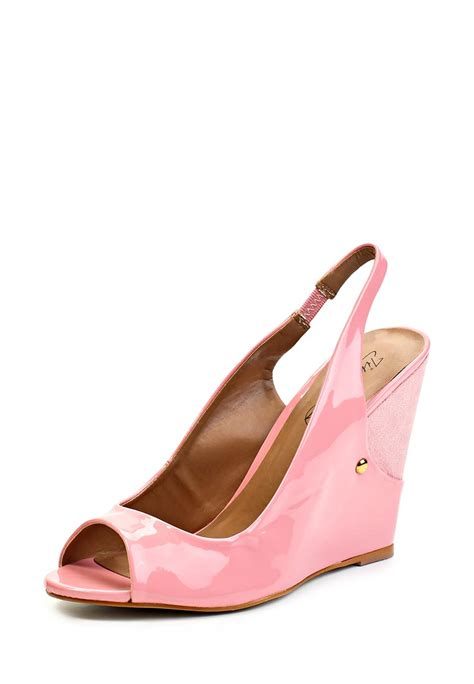 pink patent slingback wedge high heel peep toe timeless