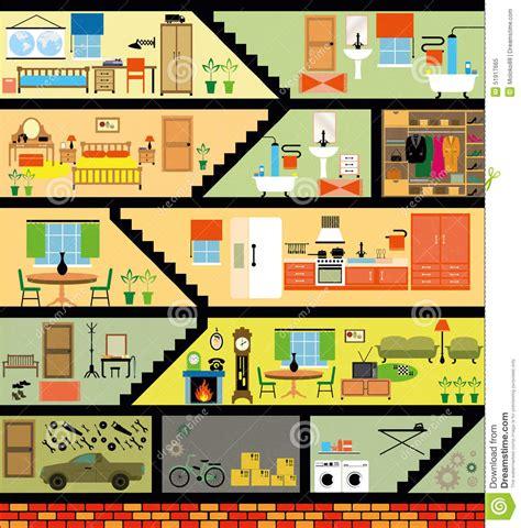 Large Family Floor Plans karikaturfamilienhaus vektor abbildung bild 51917665