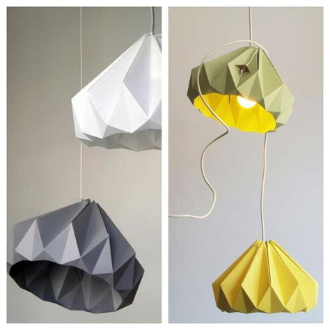 How To Make Origami Lights - origami lights and wooden ls mad about the house