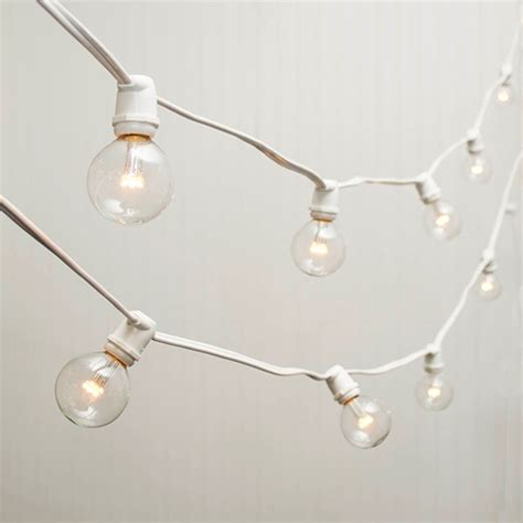 100 ft string lights commercial led globe string lights 100 ft white wire 2